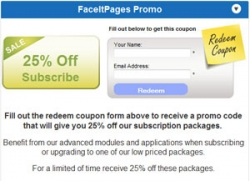 New Facebook Page Coupon Application Unveiled by FaceItPages