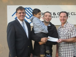 First Member of West Valley Boys & Girls Club, Now a Single Father, Receives Much-Needed Grant from Extended Family