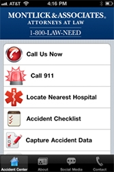 Georgia Accident Attorneys, Montlick & Associates, Releases Free iPhone & Android Mobile Accident App