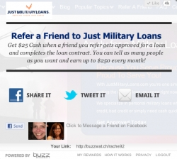 Just Military Loans Launches New Referral Program
