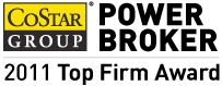 Chariff Realty Group is Honored with 2011 CoStar Power Broker Award