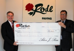 Rose Paving Donates $10,000 to University of Chicago's Airway Biology Research Group