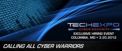 TECHEXPO to Host an Exclusive Cyber Security Hiring Event March 20th in Columbia, Maryland