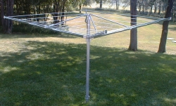 G&G Clothesline Has Developed a Smaller Umbrella Style Outdoor Clothesline