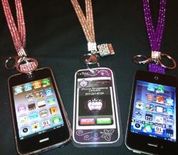 Rhinestone iPhone Lanyard