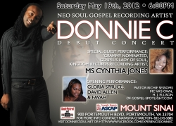Donnie C Releases Latest Singles; Performs May 19th at Mt. Sinai Church