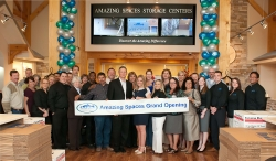 Amazing Spaces Storage Center Celebrated the Grand Opening of a 4th Store Located in the Houston Medical Center with a Donation to the Shriners Hospital for Children