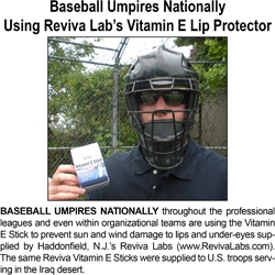 Baseball Umpires Using Reviva Lab's Vitamin E Stick