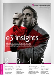 E3 Network's First Issue of Global Insights Magazine Focuses on HR Communications and Employer Branding