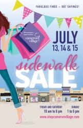 Annual Cameron Village Sidewalk Sale Set for  July 13-14-15