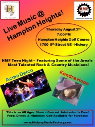 Hickory Music Factory Presents Live Music @ Hampton Heights - August 2