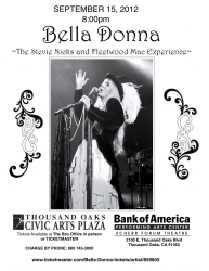 Bella Donna, the Stevie Nicks and Fleetwood Mac Experience Coming to the Scherr Forum Theater Thousand Oaks September 15, 2012