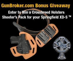 GunBroker.com Adds CrossBreed Holsters Shooter's Pack to Springfield XD-S .45 ACP Giveaway