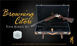 Friends of NRA Offer One-of-a-Kind NRA-Edition 4-Barrel Browning Citori on Gunbroker.com