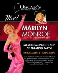 Spirit of Marilyn Celebration with Mycki Manning as Marilyn Monroe in Las Vegas 50 Years Later Marilyn is Still Oscar's Favorite