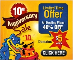 Online Shopping Mall MyReviewsNow.net Promotes HostGator Huge 10th Anniversary Sale Only on October 22