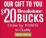 Online Holiday Shopping Mall MyReviewsNow.net Announces Limited Time $20 Brookstone Bucks for You Offer