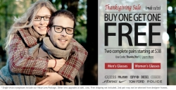 Leading Online Shopping Mall MyReviewsNow.net Announces Buy One Get One Free Sale from GlassesUSA