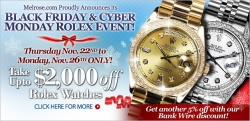Online Shopping Mall MyReviewsNow.net Features Melrose Jewelers' Black Friday & Cyber Monday Sale