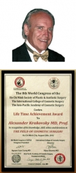 Dr. Krakovsky Receives the Life Time Achievement Award for His Contributions to the Field of Cosmetic Surgery