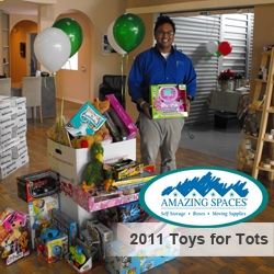 Amazing Spaces® Storage Centers Help Bring Joy to Local Needy Children This Holiday Season, Partners with the Marine Toys for Tots Foundation