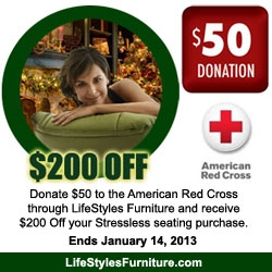LifeStyles Furniture Raising Red Cross Donations for Those Affected by Hurricane Sandy Through Ekornes Stressless Charity Promotion