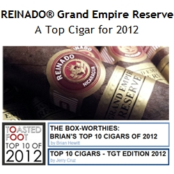 REINADO� Recognized in Multiple Lists of Best 2012 Cigars