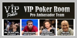 VIP Poker Room Announces First Members of Pro Ambassador Team