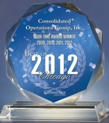 Consolidated Operations Group, Inc. Receives 2012 Best of Chicago Award