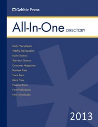 Gebbie Press Continues to Provide a Comprehensive, Single-Volume Media Contact Directory for 2013
