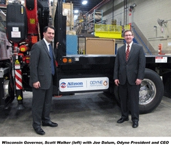 Wisconsin Governor, Scott Walker, Visits Odyne Systems