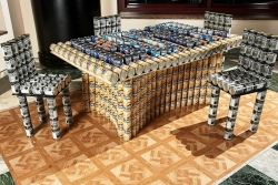 Weidlinger Associates Entry in 2012 New York Canstruction® Charity Event Sponsored by Goya Foods