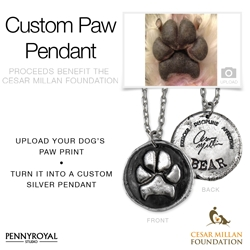 Custom Paw Print Jewelry to Benefit Cesar Millan Foundation