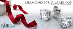 25karats.com Expands Diamond Stud Earring Collection with Elegant New Styles