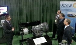 Odyne Systems Showcased Unique New Walk-In Van Hybrid Power Application at the 2013 NTEA Work Truck Show
