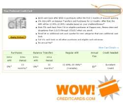 New Credit Card Comparison Tool Available at WOWCreditCards.com