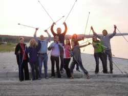 Nordic Walking Classes Return to the Village at Bay Ridge