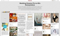 Catalogs.com Invites Brides-to-be to Pin Their Wedding Inspiration to Win in the Wedding Dreams Pinterest Contest