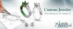 Express Your Individuality with 25karats.com's Custom Jewelry Design