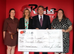 Rose Paving Donates $5,000 to the Cancer Support Center