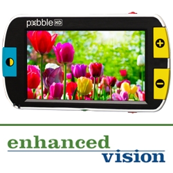 Enhanced Vision Introduces the New Pebble HD, a High Definition Hand-Held Magnifier Offering Independence On-the-Go for the Visually Impaired