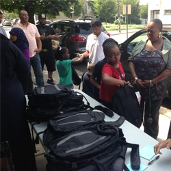 Mahabbah Foundation Hosts Backpack Giveaway