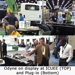 Odyne Systems Hybrid Power Truck System Selected for Nationwide Deployment by the DOE Showcased at ICUEE and Plug-In