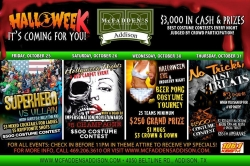 Halloween at Mcfadden's Addison - Four Full Night's of Freaky Festivities Coming for You!