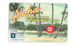 Bianca Porrino Received a Letter from the Human Right Campaign, Thanking Her for Her Active Support in Passing Marriage Equality Laws in Hawaii
