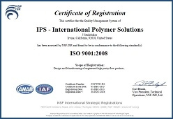 International Polymer Solutions (IPS) Awarded ISO-9001:2008 Certification