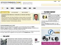 Software Quality Engineering Launches Redesigned StickyMinds.com - a TechWell Community Website