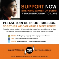 The We women foundation Launches Its 2013 Awareness Campaign, Emerging Women of Burma