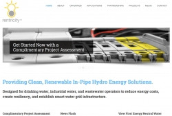 Rentricity Launches New Website for In-Pipe Renewable Energy Recovery