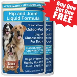 Marvelous Products is Offering Osteo-Pet� Liquid Glucosamine for Dogs 32oz BOGO Free for a Limited Time - Nourish Cartilage and Help Defend Against Joint Inflammation
